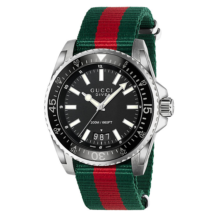 Gucci Dive men's stainless steel strap watch - Product number 3460193