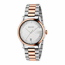 Gucci Timeless men's bi-colour bracelet watch - Product number 3460282