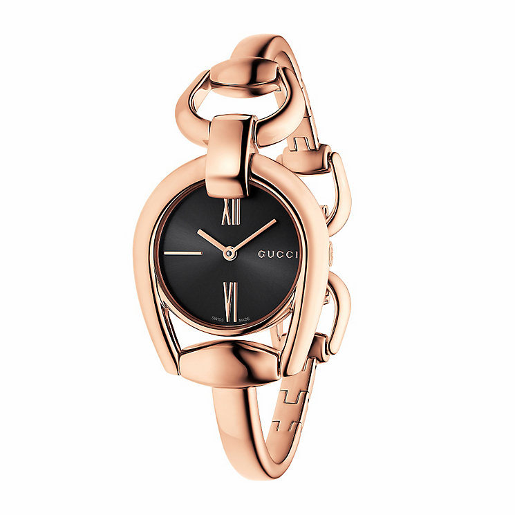 Gucci Horsebit ladies' rose gold PVD bracelet watch - Product number 3460517