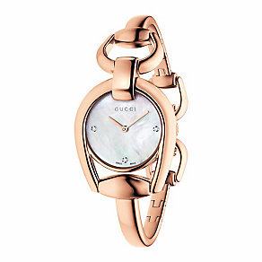 Gucci Horsebit ladies' rose gold-plated bracelet watch - Product number 3460851