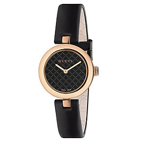 Gucci Diamanti ladies' rose gold-plated leather strap watch - Product number 3460886