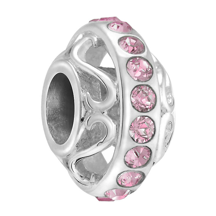 Chamilia lavish light rose crystal silver charm - Product number 3465489