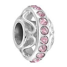 Chamilia lavish light rose crystal silver charm - Product number 3465489