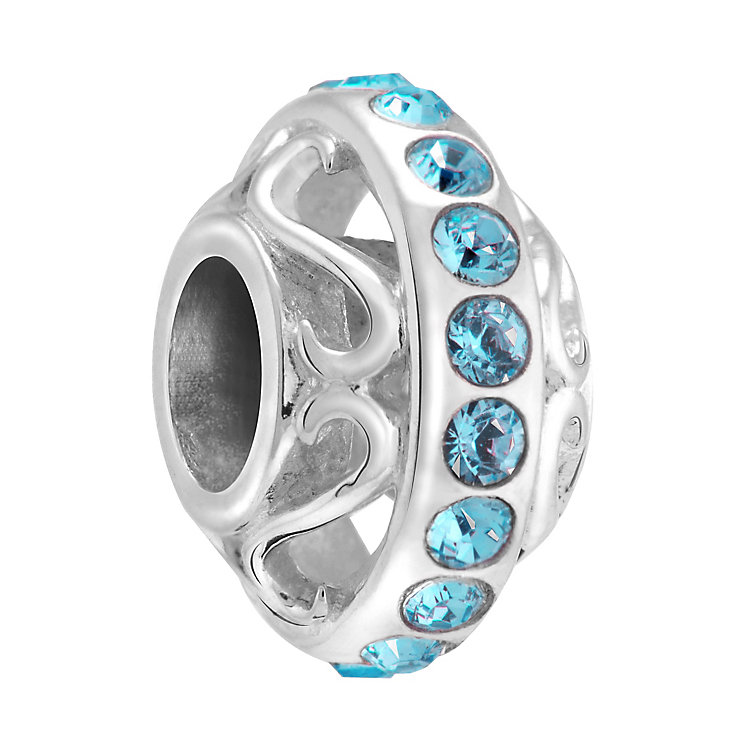 Chamilia lavish indicolite crystal sterling silver charm - Product number 3465594