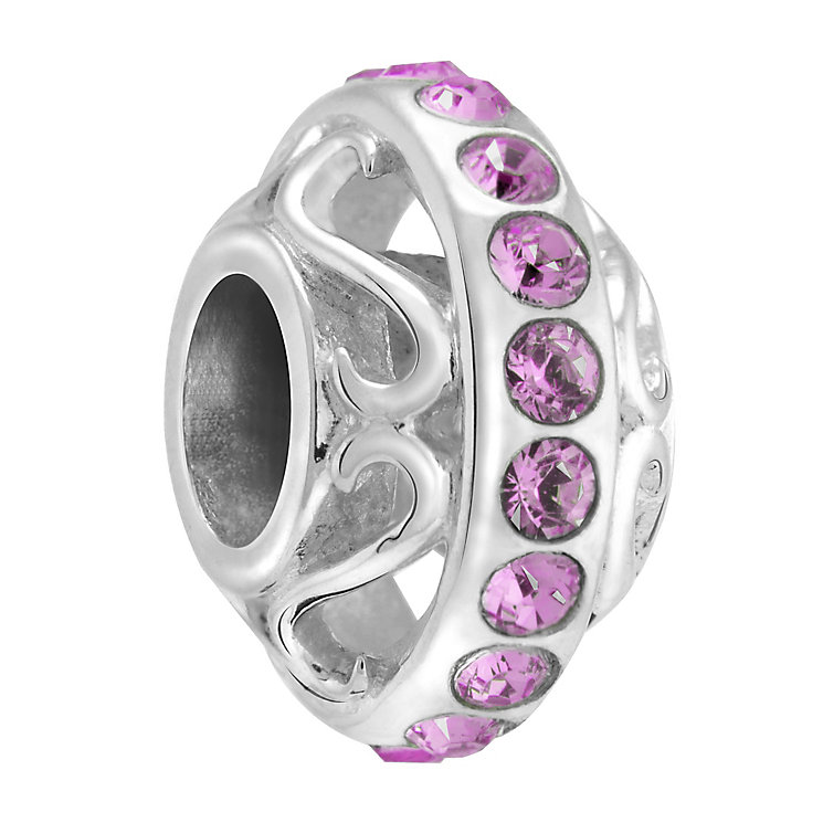 Chamilia lavish amethyst coloured crystal silver charm - Product number 3465624