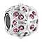 Chamilia floral pink crystal sterling silver charm - Product number 3465810