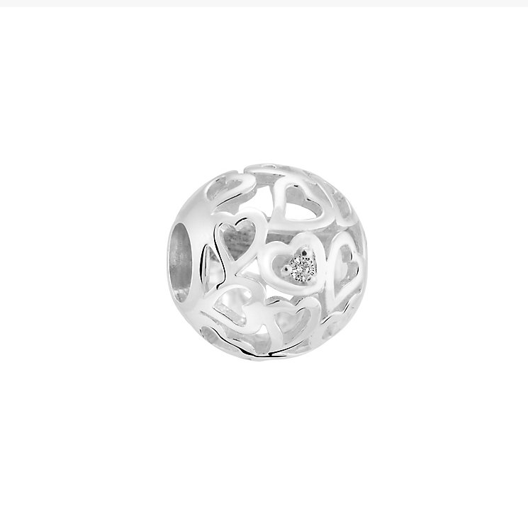 Chamilia Devotion sterling silver and diamond charm - Product number 3471055