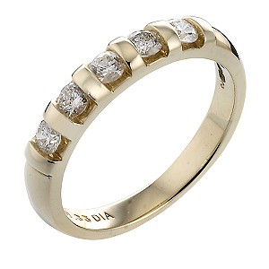 9ct Gold Third Carat Diamond Eternity Ring