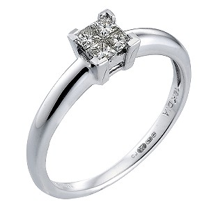 18ct White Gold Fifth Carat Princessa Diamond Ring