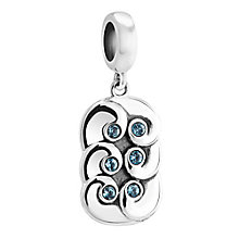 Chamilia Silver & Swarovski Crystal Water Element Bead - Product number 3472620