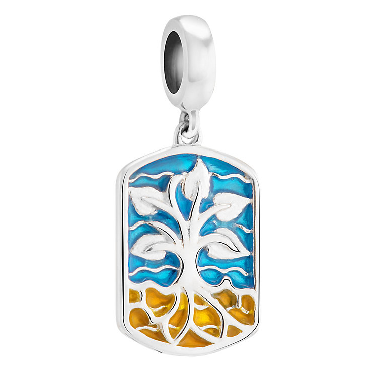 Chamilia Silver & Enamel Tree Design Earth Element Bead - Product number 3472663