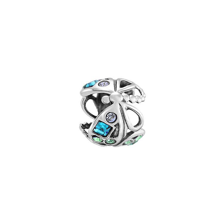 Chamilia dragonfly blue crystal sterling silver charm - Product number 3473449