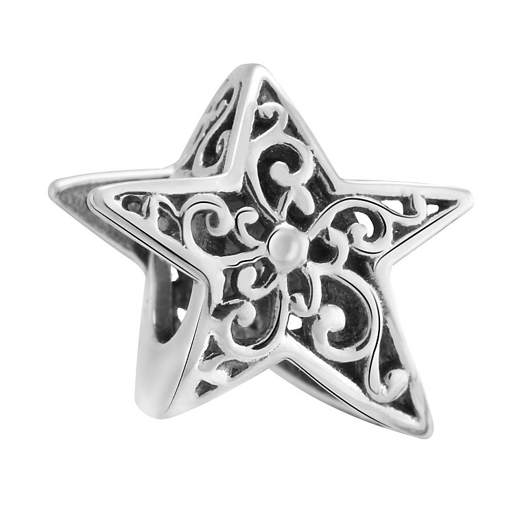 Chamilia Sterling Silver Stargazing Filigree Star Bead - Product number 3473457