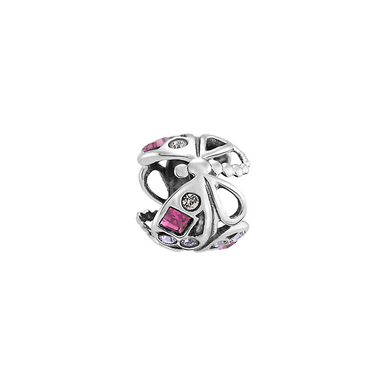 Chamilia dragonfly purple crystal sterling silver charm - Product number 3473570