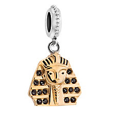 Chamilia Silver Gold Plate & Swarovski Crystal King Tut Bead - Product number 3473821