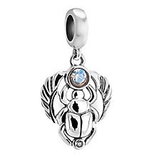 Chamilia Sterling Silver & Swarovski Crystal Scarab Bead - Product number 3473848