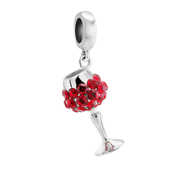 Chamilia Silver & Swarovski Crystal Merlot Wine Glass Bead - Product number 3474062