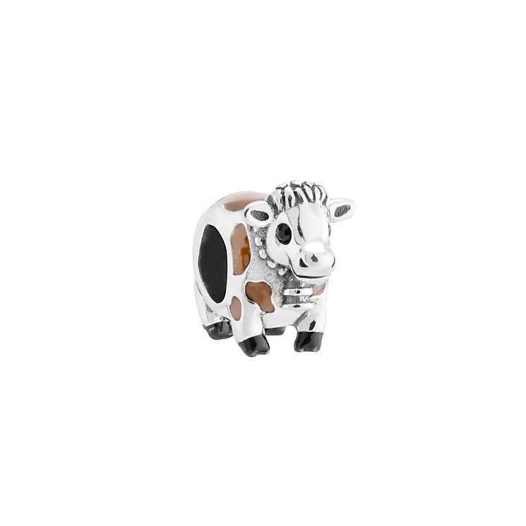 Chamilia Sterling Silver & Enamel Brown Betty Cow Bead - Product number 3474100