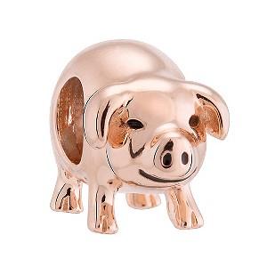 chamilia silver gold plated piggy bank bead h samuel