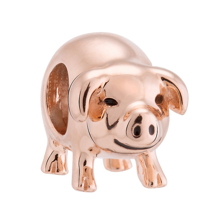 Chamilia Silver & Rose Gold Plated Piggy Bank Bead - Product number 3474119