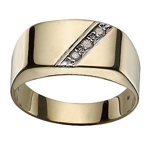 9ct Gold Diamond-set Signet Ring
