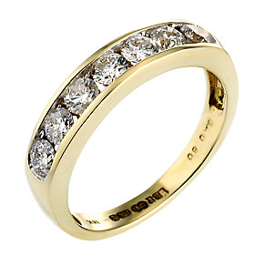 18ct Gold Half Carat Diamond Eternity Ring - Product number 3474313