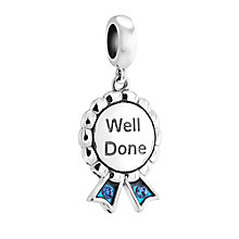 Chamilia Silver Swarovski Crystal Well Done Blue Medal Bead - Product number 3475166