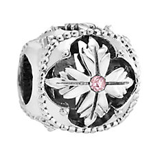Chamilia Silver & Rose Swarovski Crystal Enlighten Bead - Product number 3475573