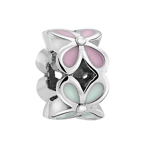 Chamilia Silver & Enamel Petite Rotating Flower Bead - Product number 3475670