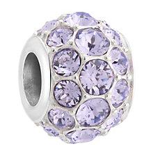Chamilia Silver & Lavender Swarovski Crystal Splendor Bead - Product number 3475719
