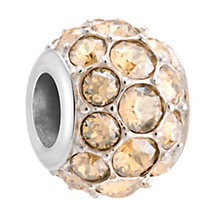 Chamilia Silver & Golden Swarovski Crystal Splendor Bead - Product number 3475735