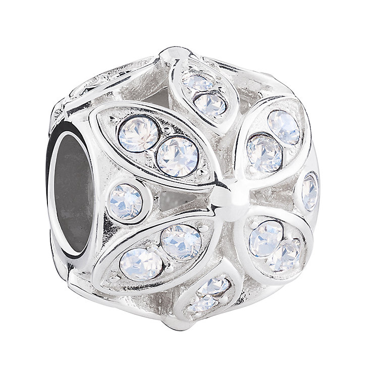 Chamilia Silver & Swarovski Crystal Floral Accents Bead - Product number 3475786