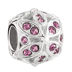 Chamilia Silver & Pink Swarovski Floral Accents Bead - Product number 3475794