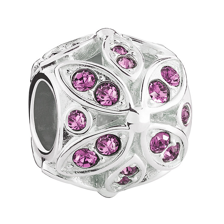 Chamilia Silver & Swarovski Crystal Floral Accents Bead - Product number 3475808