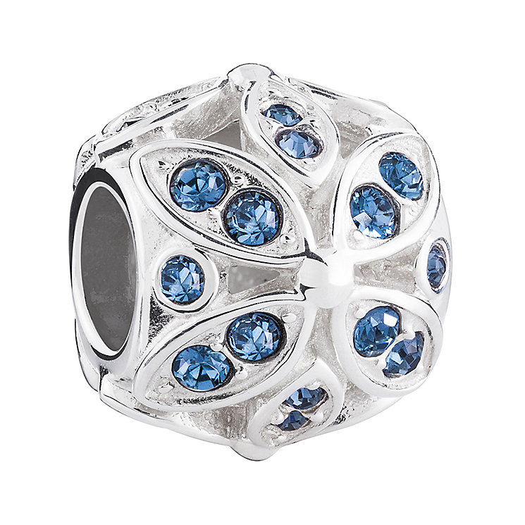 Chamilia Silver & Swarovski Crystal Floral Accents Bead - Product number 3475816