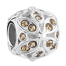 Chamilia Silver & Golden Shadow Swarovski Floral Accent Bead - Product number 3475824