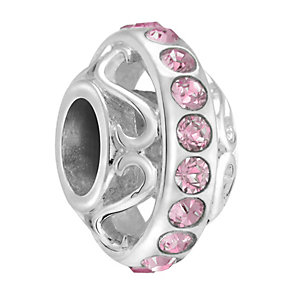 Chamilia Silver & Rose Swarovski Crystal Lavish Bead - Product number 3475891