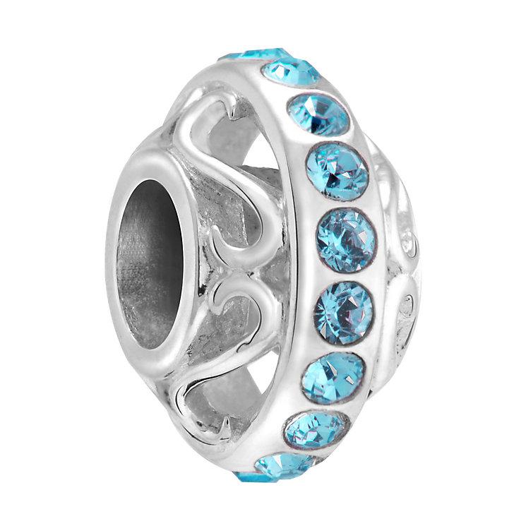 Chamilia Silver & Blue Swarovski Crystal Lavish Bead - Product number 3475948