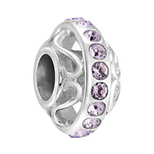 Chamilia Silver & Lavender Swarovski Crystal Lavish Bead - Product number 3475972