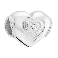 Chamilia Sterling Silver & Diamond Mum Heart Bead - Product number 3476464