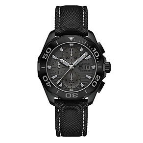 TAG Heuer Aquaracer Men's Ion-plated Chrome Strap Watch - Product number 3476634