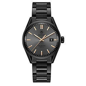 TAG Heuer Carrera Ladies' Ion-plated Round Bracelet Watch - Product number 3476960