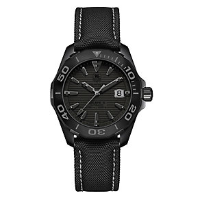 TAG Heuer F1 Men's Ion-plated Round Black Strap Watch - Product number 3477142