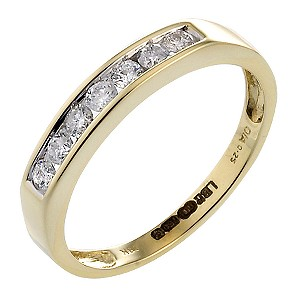 18ct Yellow Gold Quarter Carat Channel Set Ring