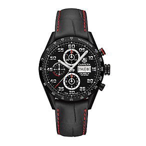 TAG Heuer Carrera men's ion-plated black strap watch - Product number 3478971