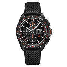 TAG Heuer Carrera Men's Ion-plated Black Strap Watch - Product number 3479102
