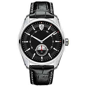 Scuderia Ferrari GTB-C men's steel black leather strap watch - Product number 3479366