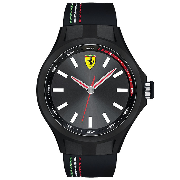 Scuderia Ferrari men's ion-plated black rubber strap watch - Product number 3479382