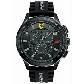Scuderia Ferrari men's ion-plated black rubber strap watch - Product number 3479412