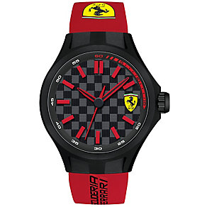Scuderia Ferrari men's ion-plated black rubber strap watch - Product number 3479420